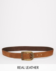 Black And Brown Leather Belt