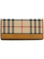 Burberry House Check Long Wallet Brown