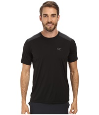 Arc'teryx Ether Comp Crew S S Black Men's Short Sleeve Pullover