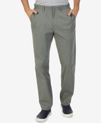 Nautica Men's Classic Fit Stretch Deck Pants Hill Side Olive