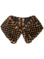 Louis Vuitton Vintage Damier Muffler Collar Stole Brown