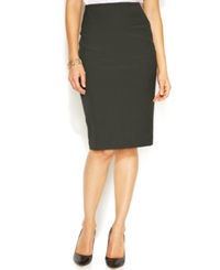 Alfani Classic Pencil Skirt Urban Olive
