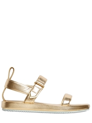 Golden Goose 10Mm Alice Metallic Leather Sandals Gold