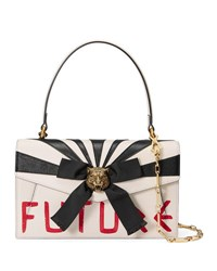 Gucci Linea D Future Top Handle Bag White Red White Red