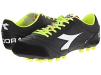 Diadora Italica 3 Lt Mdpu 25 Black White Men's Soccer Shoes
