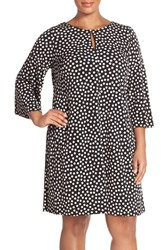 Plus Size Women's Gabby Skye Print Elbow Sleeve Jersey Trapeze Dress