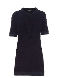 Tabula Rasa Douala Boucle Towelling Dress Navy