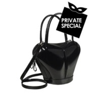 Fontanelli Dramatic Black Italian Leather Handbag