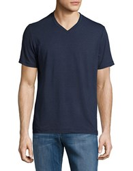 Mpg Expedite V Neck Striped Tee Navy