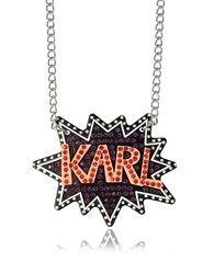 Karl Lagerfeld K Pop Glitter Necklace Multicolor