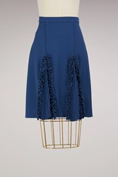 Marco De Vincenzo Rouched Knee Lenght Skirt Blue