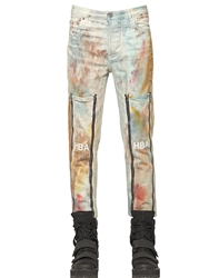 Hba Hood By Air 16.5Cm Da Vinci Rust Printed Denim Jeans Multi