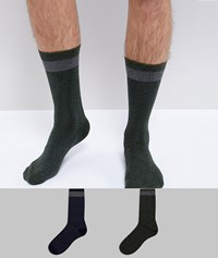 Selected Homme Socks In 2 Pack Dark Sapphire Multi