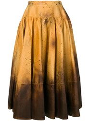 Calvin Klein 205W39nyc Distressed Look Full Skirt Multicolour