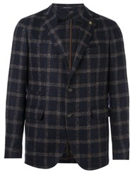 Tagliatore Checked Blazer Blue