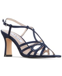 Nina Amabel Evening Sandals Women's Shoes New Navy