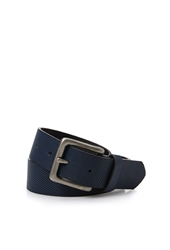 Forever 21 Textured Faux Leather Belt Blue