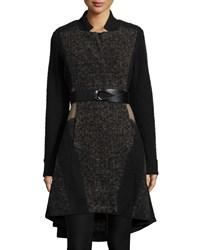 Nic Zoe Textured Twirl High Low Coat Multi