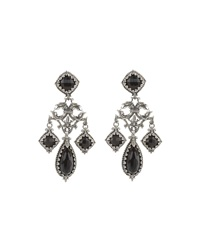 Konstantino Silver And Onyx Griffin Chandelier Earrings Black