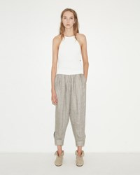 Dua An Paneled Herringbone Trouser