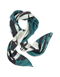 Jimmy Choo Shoes Printed Silk Square Scarf Ivory