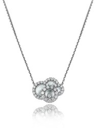 Chopard Happy Dreams Diamond Mother Of Pearl And 18K White Gold Pendant Necklace
