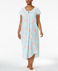 Charter Club Plus Size Lace Trimmed Printed Cotton Nightgown Only At Macy's Romantic Roses