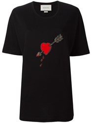 Gucci Heart Motif Knit T Shirt Black