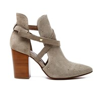 H Shoes By Hudson Women's Jura Suede Studded Heeled Ankle Boots Taupe Grey