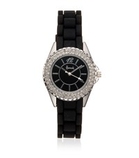 Harrods Diamante Watch Unisex Black