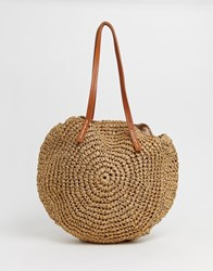 Warehouse Circle Shopper Bag In Tan