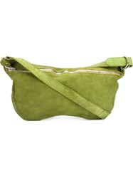 Guidi Zip Fastening Medium Tote Green