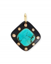 Ashley Pittman Aulu Dark Horn And Turquoise Pendant Brown