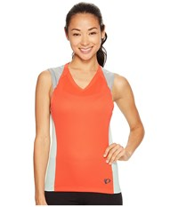 Pearl Izumi Launch Sleeveless Jersey Poppy Red Mist Green Women's Sleeveless Orange