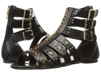 Just Cavalli Leather Star And Stud Sandal Black Women's Shoes
