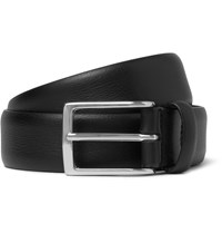 Andersons 3Cm Black Leather Belt