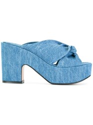 Robert Clergerie Esther Denim Sandals Blue