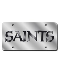 Rico Industries New Orleans Saints License Plate Silver