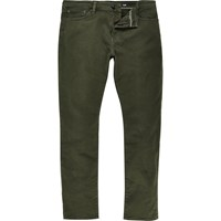 River Island Mens Khaki Green Dylan Slim Fit Jeans