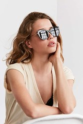 Urban Outfitters Metal Inlay Cat Eye Sunglasses Black