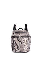 Ash 'Harper' Mini Snake Embossed Leather Backpack Animal Print