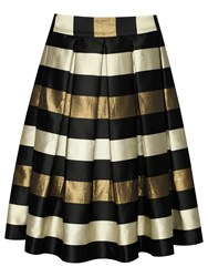 True Decadence Stripe Skirt Bronze Cream