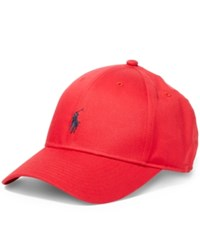 Polo Ralph Lauren Men's Big And Tall Baseline Hat Polo Red
