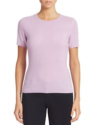 Lord And Taylor Petite Short Sleeve Cashmere Sweater Lavender