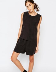 Selected Ovina Romper Black