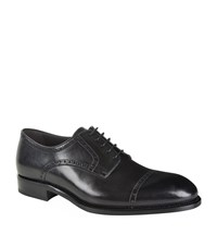 Brioni Leather Derby Brogues Male Dark Grey