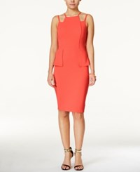 Material Girl Juniors' Cutout Peplum Bodycon Dress Only At Macy's
