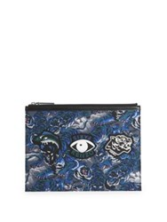 Kenzo Flying Tiger Nylon Pouch Blue Multi