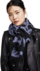 Mcq By Alexander Mcqueen Cut Up Swallow Scarf Lilac Black