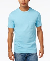 Club Room Men's Heathered T Shirt Only At Macy's Basin Blue